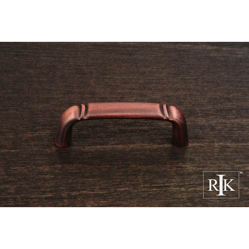 RK International Inc Distressed Copper Smooth Pull with Curved Lines at End