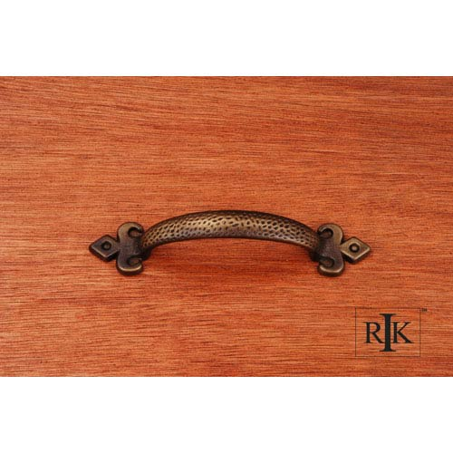 RK International Inc Antique English Divet Indent Bow Pull with Gothic Ends