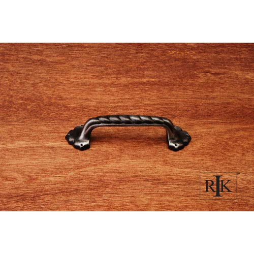 RK International Inc Distressed Nickel Big Rope Pull with Clover Ends