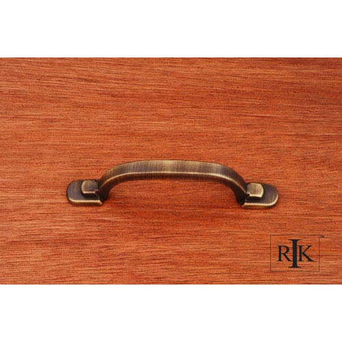RK International Inc Antique English Two Step Foot Rectangular Pull