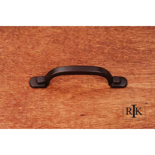 RK International Inc Oil Rubbed Bronze Two Step Foot Rectangular Pull
