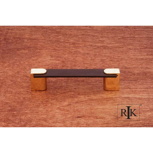 RK International Inc Oil Rubbed Bronze and Brass Two Tone Decorative Ends Pull