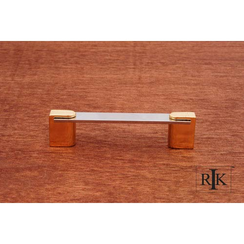 Chrome and Brass Two Tone Decorative Ends Pull