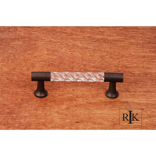 RK International Inc Oil Rubbed Bronze Acrylic Swirl Pull