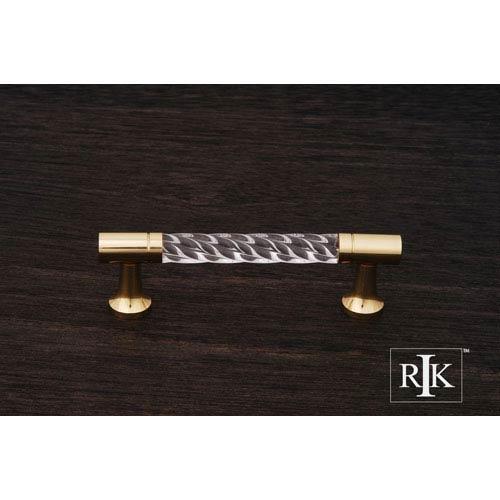 RK International Inc Polished Brass Acrylic Swirl Pull