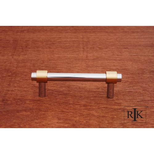 Chrome and Brass Plain Rod Pull