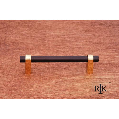 RK International Inc Oil Rubbed Bronze and Brass Plain Rod Pull