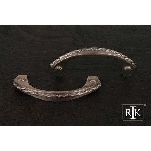 RK International Inc Pewter Deco-Leaf Bow Pull