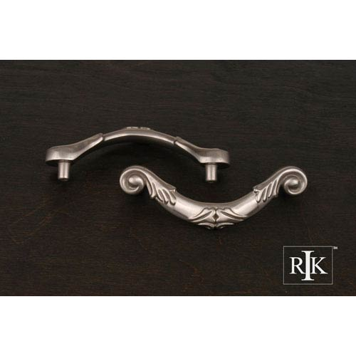 RK International Inc Pewter Ornate Curved Drop Pull