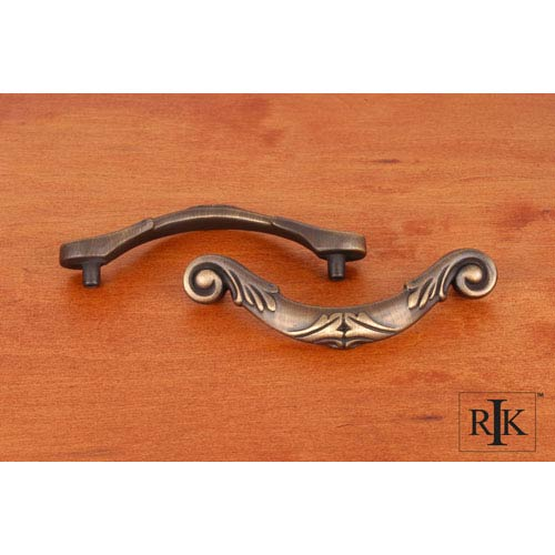 Antique English Ornate Curved Drop Pull