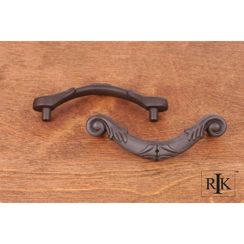 RK International Inc Oil Rubbed Bronze Ornate Curved Drop Pull