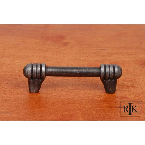 RK International Inc Distressed Nickel Distressed Rod with Swirl Ends Pull