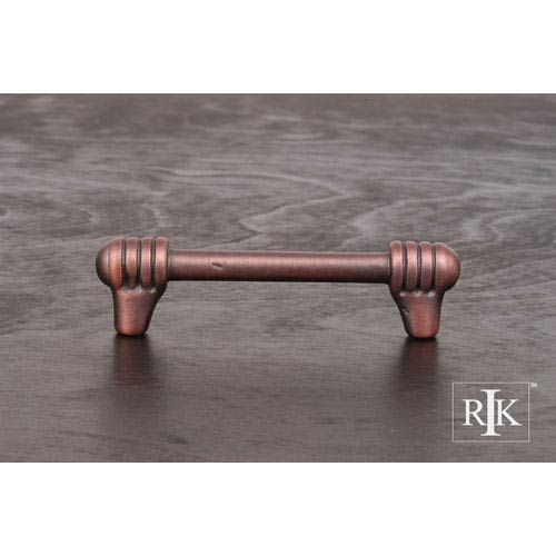 RK International Inc Distressed Copper Distressed Rod with Swirl Ends Pull