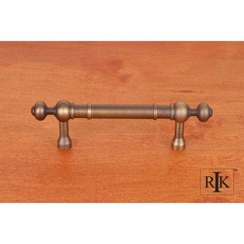 RK International Inc Antique English Plain Pull with Decorative Ends