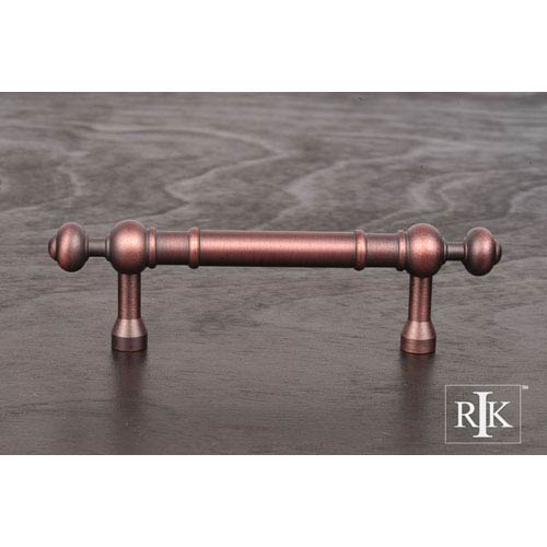 RK International Inc Distressed Copper Plain Pull with Decorative Ends