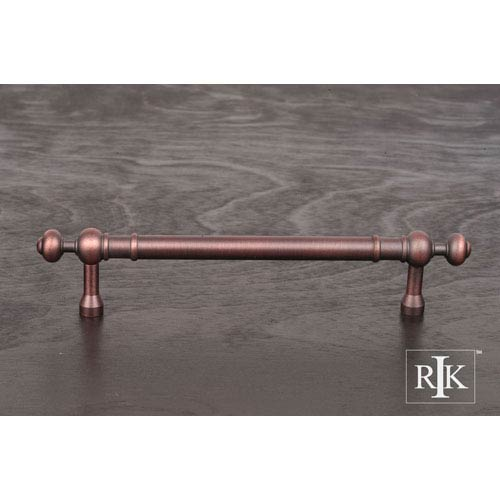 Distressed Copper Plain Pull with Decorative Ends