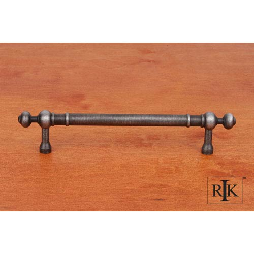 RK International Inc Distressed Nickel Plain Pull with Decorative Ends