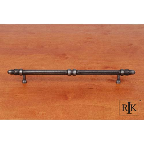 RK International Inc Distressed Nickel Lined Rod Pull with Petals at End