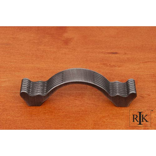 RK International Inc Distressed Nickel Wavy Contoured Pull with Lines