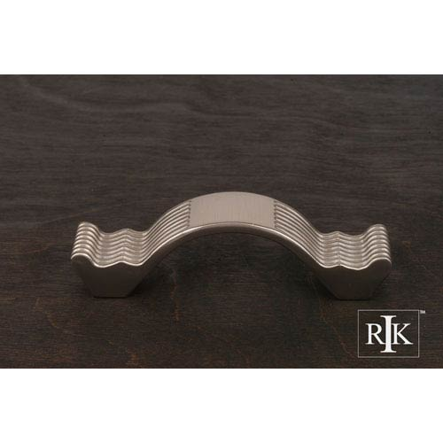 RK International Inc Pewter Wavy Contoured Pull with Lines