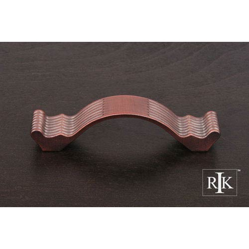 RK International Inc Distressed Copper Wavy Contoured Pull with Lines