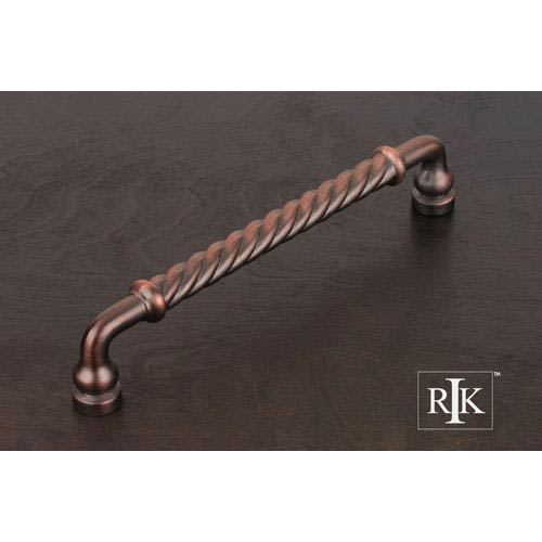 Distressed Copper Twisted Door Pull