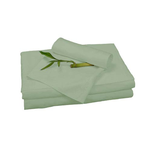 Sage Rayon from Bamboo Twin Sheet Set