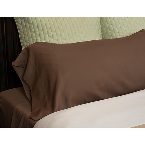 Mocha Rayon from Bamboo Full/Standard Pillowcase Set