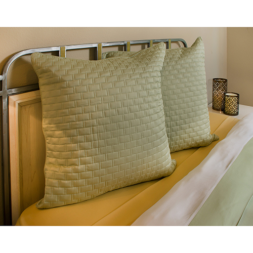BedVoyage Sage Rayon from Bamboo Quilted Euro Sham