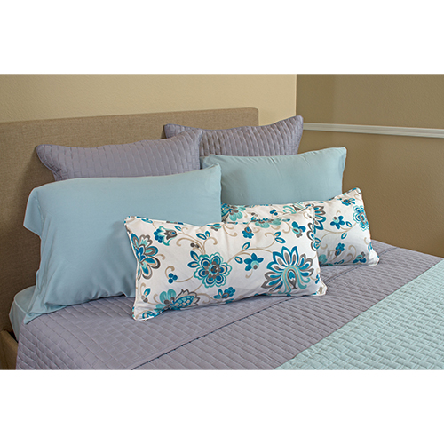Platinum Rayon from Bamboo Quilted Euro Sham