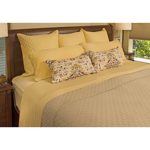 Champagne Rayon from Bamboo Queen Coverlet