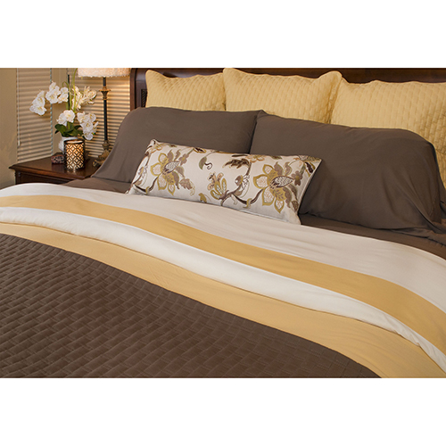 BedVoyage Mocha Rayon from Bamboo Queen Coverlet