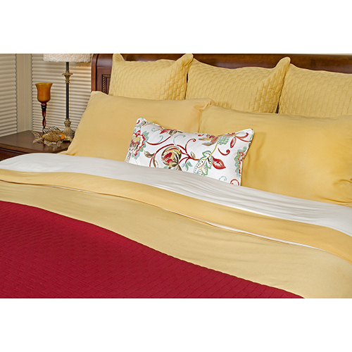 BedVoyage Cayenne Rayon from Bamboo Queen Coverlet
