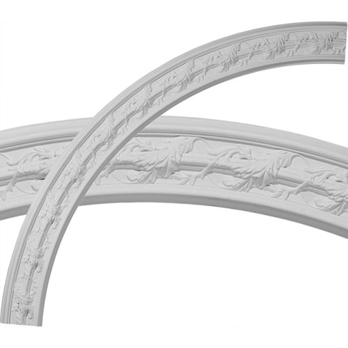 Ekena Millwork Southampton Acanthus Leaf Ceiling Ring, 1/4 of Complete Circle