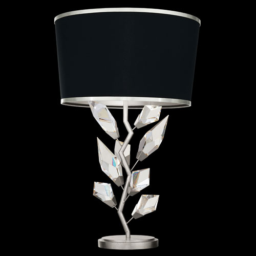 Foret Silver Black One-Light Table Lamp