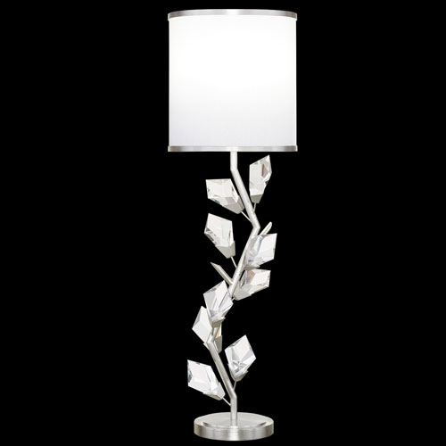 Foret Silver White One-Light Console Lamp