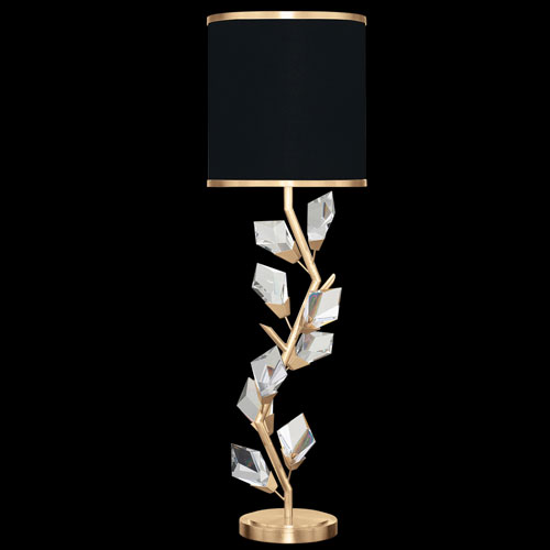 Foret Gold Black One-Light Console Lamp