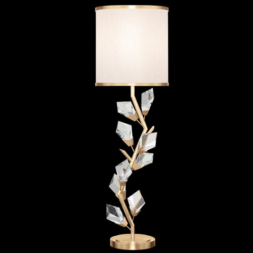 Foret Gold White One-Light Console Lamp