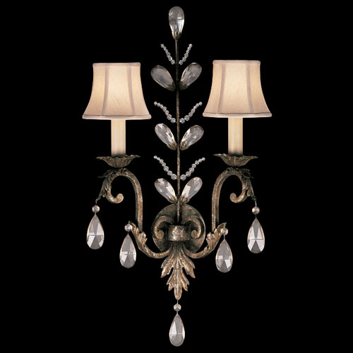 Fine Art Lamps A Midsummers Nights Dream Two-Light Wall Sconce in Cool Moonlit Patina Finish