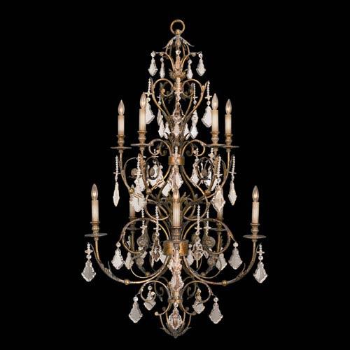 Fine Art Lamps Verona 10-Light Chandelier in Veronese Gold Finish