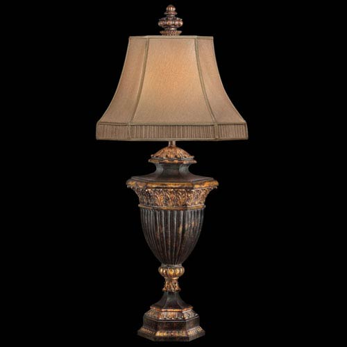 Castile One-Light Table Lamp in Gold Leaf Finish