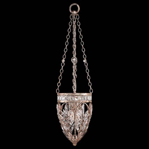 Winter Palace Three-Light Pendant in Warm Antiqued Silver Finish