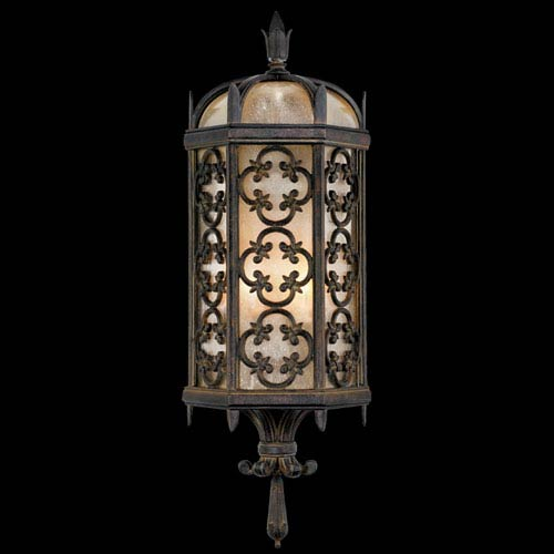 Fine Art Lamps Costa Del Sol Two-Light Outdoor Wall Mount in Wrought Iron Finish