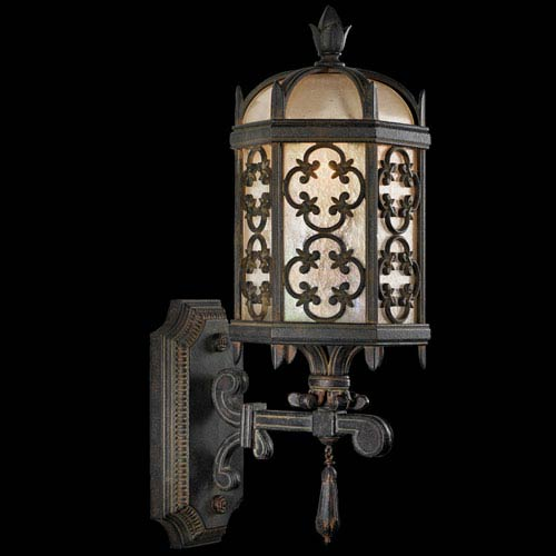 Costa Del Sol One-Light Outdoor Wall Mount in Wrought Iron Finish
