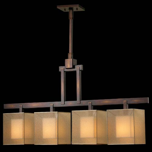 Quadralli Four-Light Island Pendant in Bourbon Finish