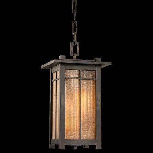 Capistrano Four-Light Outdoor Lantern in Warm Bronze Patina Finish