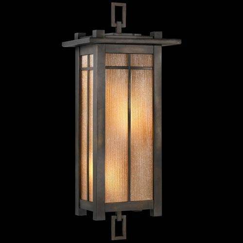 Fine Art Lamps Capistrano Two-Light Outdoor Wall Sconce in Warm Bronze Patina Finish
