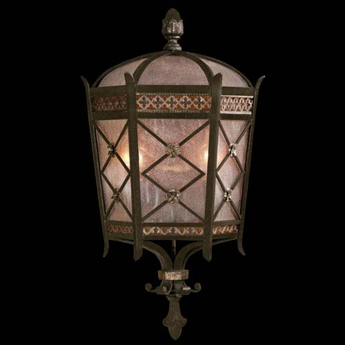 Fine Art Lamps Chateau Outdoor Two-Light Outdoor Wall Sconce in Variegated Rich Umber Patina Finish