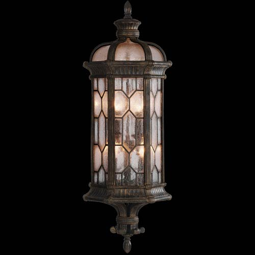 Devonshire Three-Light Outdoor Wall Sconce in Antiqued Bronze Finish