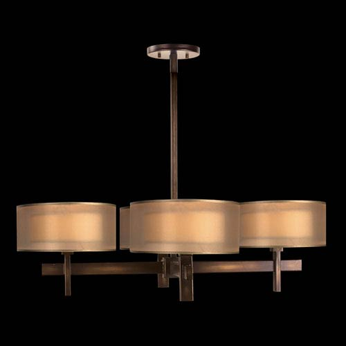 Quadralli Four-Light Chandelier in Bourbon Finish